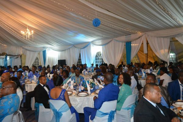 Cross section of people who attended the DPP fundraiser at Sanjika Palace
