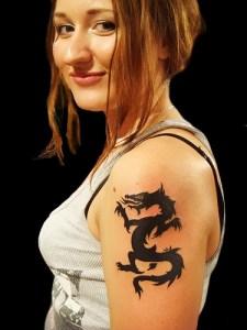 Girl Dragon Tattoos