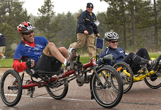 Warmer feet for recumbent riders.