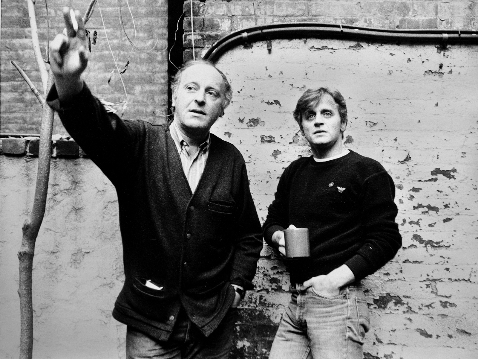 Joseph Brodsky and Mikhail Baryshnikov, New York City, 1985