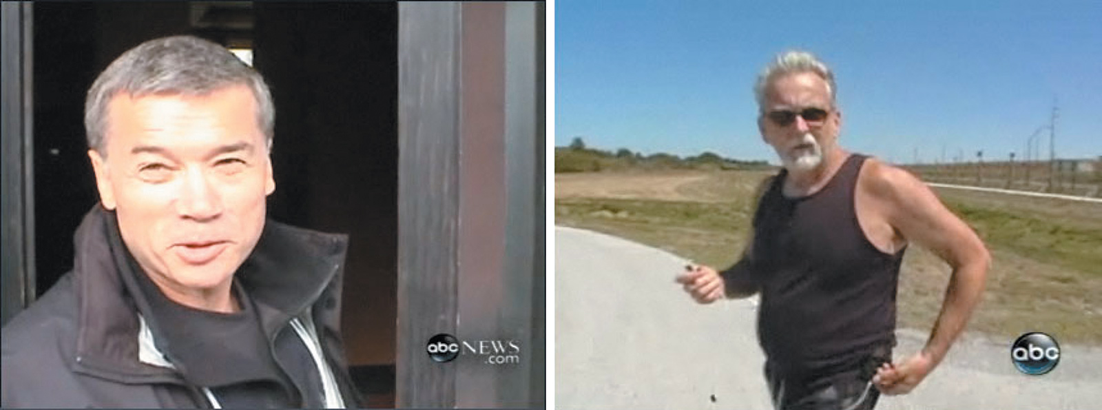 'The CIA contracted Bruce Jessen, left, and James Mitchell to design, lead, and direct harsh interrogations of a Qaeda operative,' The New York Times wrote of the two psychologists in December 2014. 'The men are pictured in images from ABC News.'