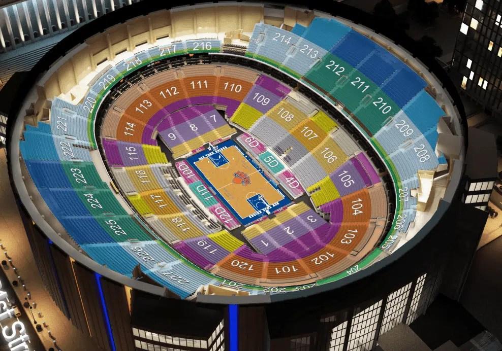 Les places dans le Madison Square Garden
