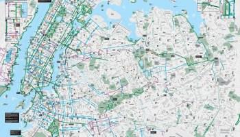 Bike New York Map.Bicyclists Bicycle Maps 2017 New York City Bike Map Staten Island