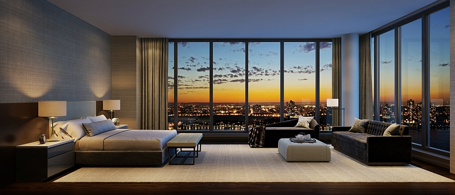 Lavish Bedroom Of The Residence At One Riverside Park With