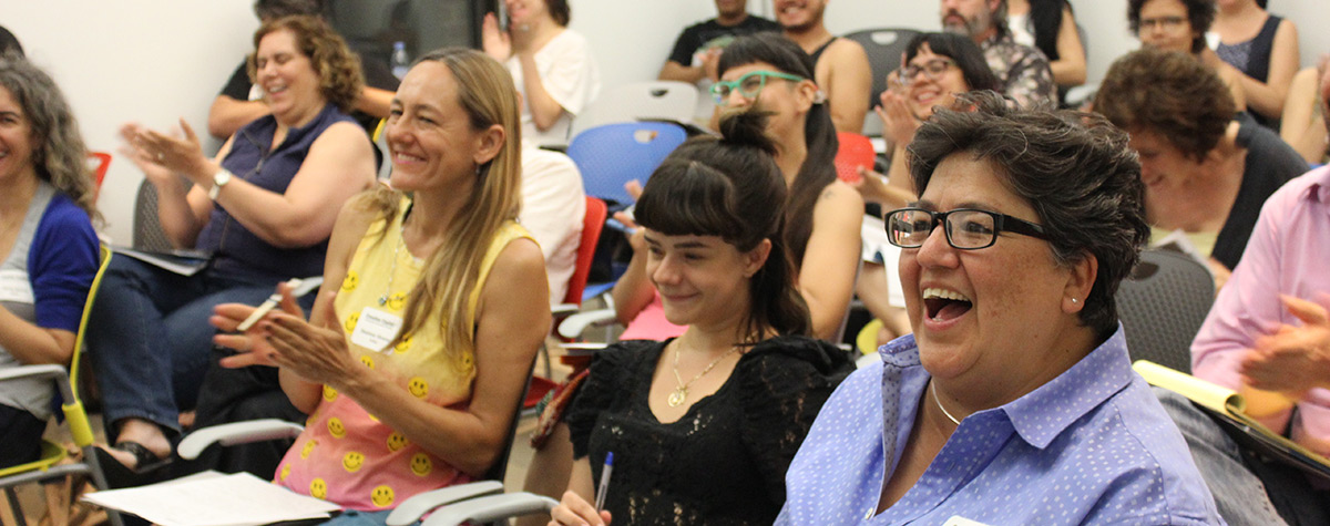 ART COMMUNITY: Artists in a Creative Capital workshop share ideas and learn useful business skills.