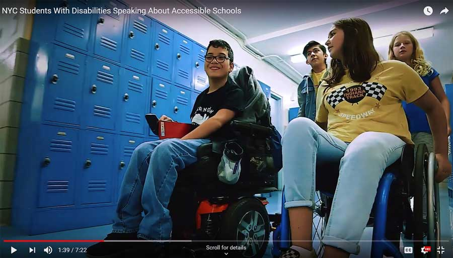 """Still from """"NYC Students With Disabilities Speaking About Accessible Schools"""""""