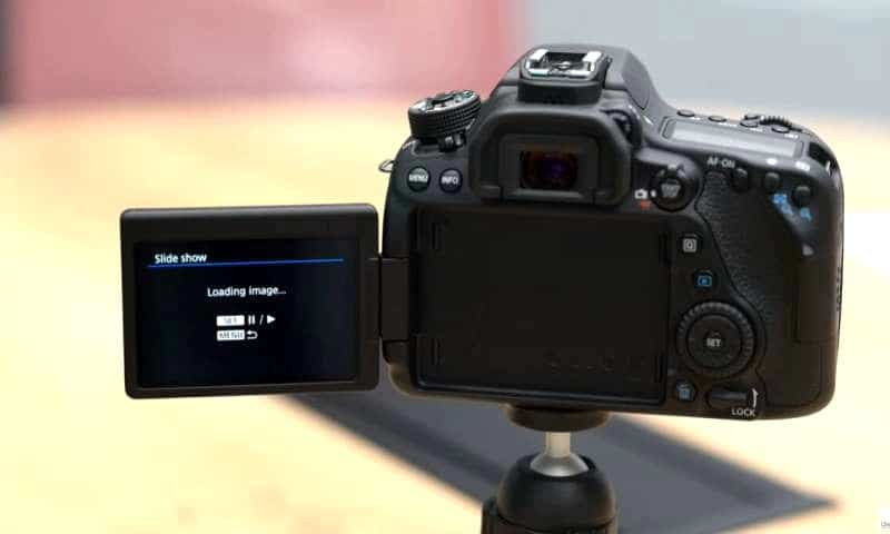 dslr with menu open