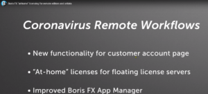 Boris coronavirus workflows