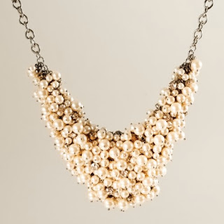Forever 21's version of the J. Crew pearl cluster necklaces