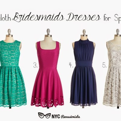6 Spring & Summer Bridesmaids Dresses from Modcloth + 15 percent off