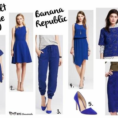 Cobalt Blue at Banana Republic