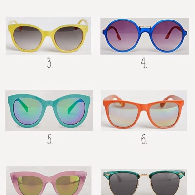 Top 10 Summer 2015 Trends: Colorful Sunnies