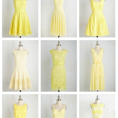 Modcloth Dress Obsessions: Lemon Yellow Sun