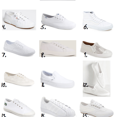 Spring 2016 Shoes on a Budget: White Sneakers