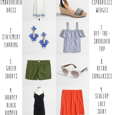 The Top 10 Summer Must-Haves from J. Crew Factory