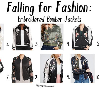 Falling for Fashion: embroidered bomber jackets