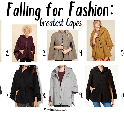 Falling for Fashion: Greatest Capes
