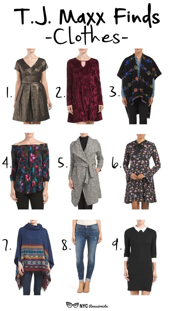 TJ Maxx Clothing