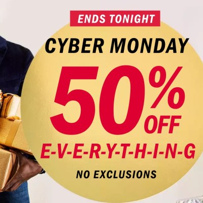 Old Navy Cyber Monday Sale – 50% off everything