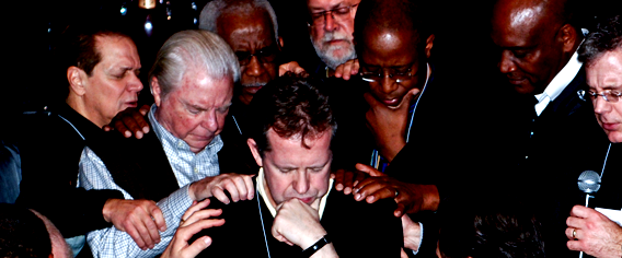 Commissioning of Pier for leadership by NYC evangelical leaders. Photo courtesy of NYC Leadership Center.