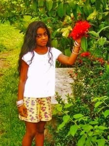 Ramya at elementary school age