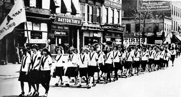 Anniversary Day Parade on Bedford Avenue, Brooklyn, 1920s.