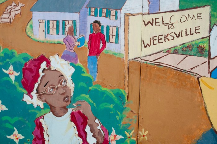 Graffiti art at Weeksville, Brooklyn. Photo: A Journey through NYC religions