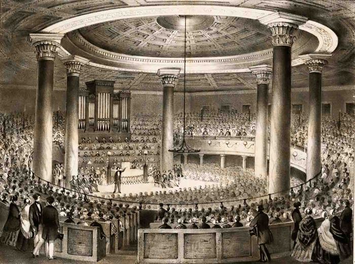 Broadway Tabernacle in 1850. Source: NY Public Library Digital Collection.
