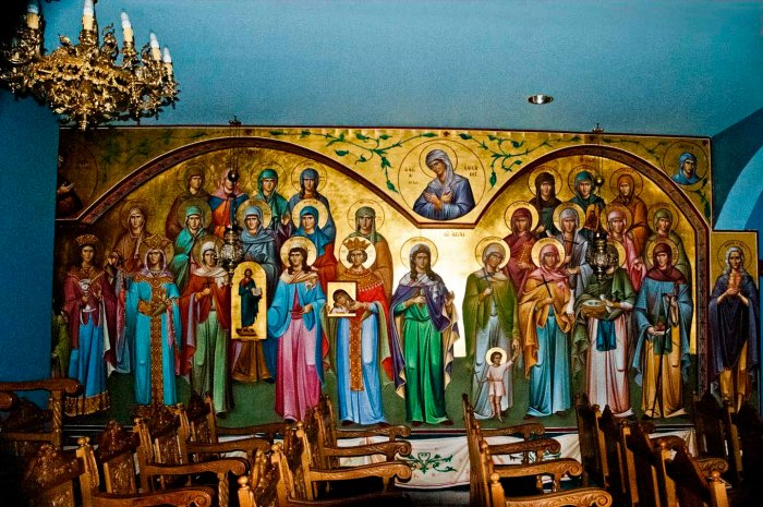 The female saints of Cathedral of St. Markella, Astoria, Queens. Photo: Tony Carnes/A Journey through NYC religions