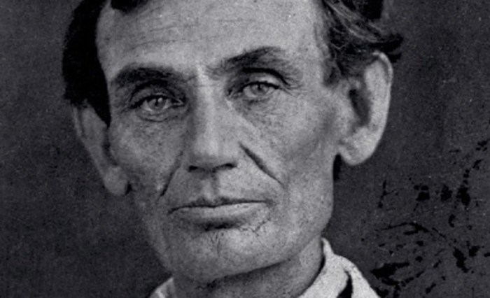 Abraham Lincoln at 48 years old. Photo: Abraham M Byers