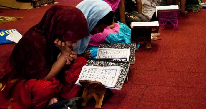 Koran students at the small Belal Masjid in Flatbush. Photo: Tony Carnes/A Journey through NYC religions