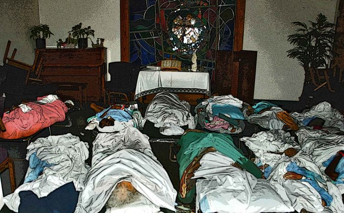 In Memoriam Katrina. Photo & illustration by Tony Carnes/A Journey through NYC religions