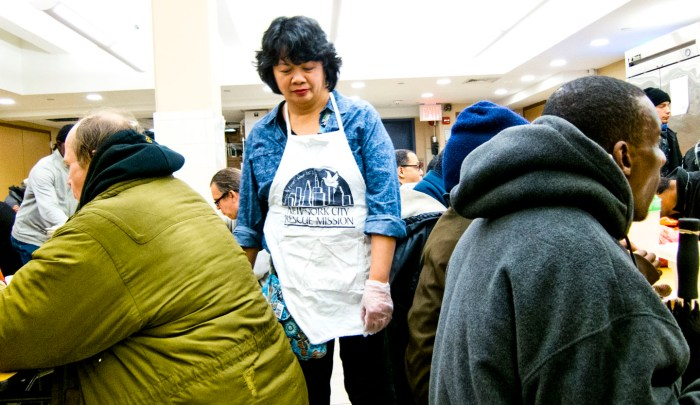 Chef Debbie Yeung at NYC Rescue Mission. Photo: Tony Carnes/A Journey through NYC religions