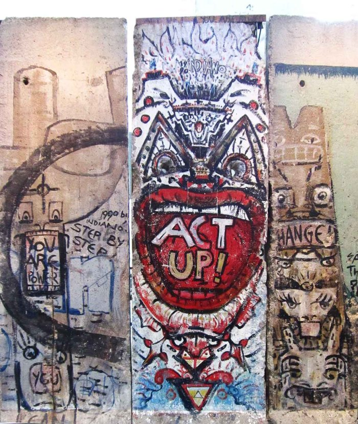 Section of Berlin Wall on display at Newseum, Washington DC. Photo: Tony Carnes/A Journey through NYC religions