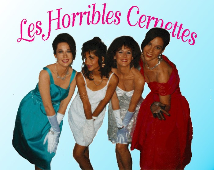 First photo on the WWW: Les Horribles Cernettes in 1992