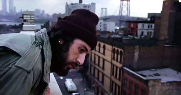 Frank Serpico, played by Al Pacino, on Driggs Street.