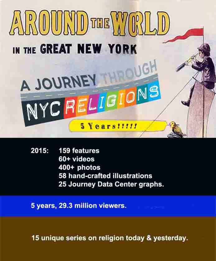 Placard: Five years of A Journey through NYC religions