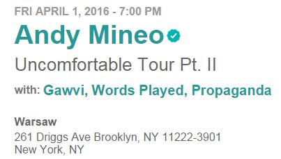 Mineo NYC April 1