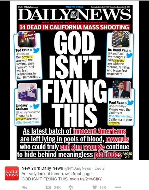 NY Daily News God IsntFixingThis
