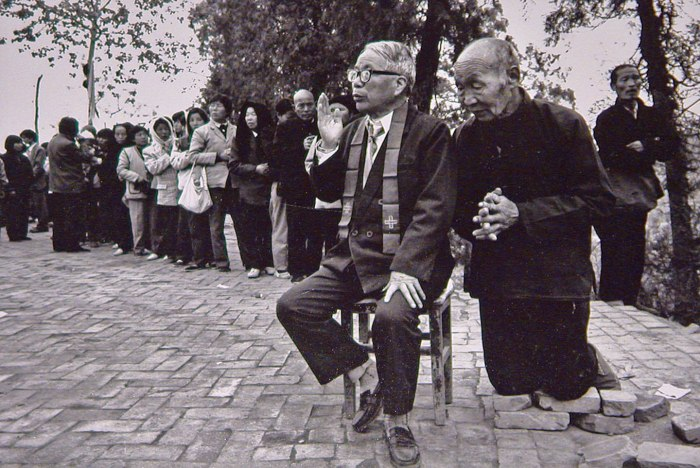 Chinese Catholics in rural Yunnan. Photo provided by Ding Fang.