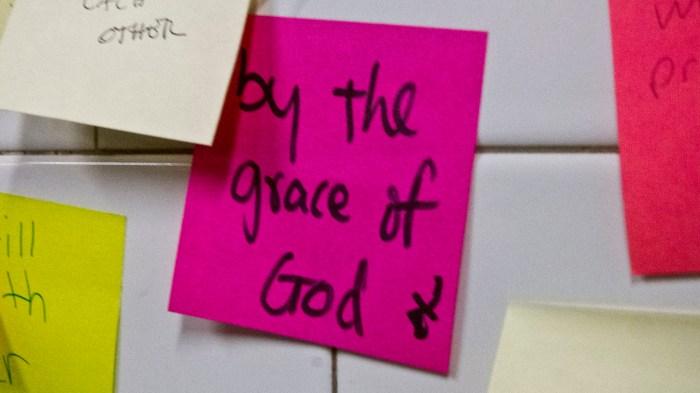 Grace of God postit