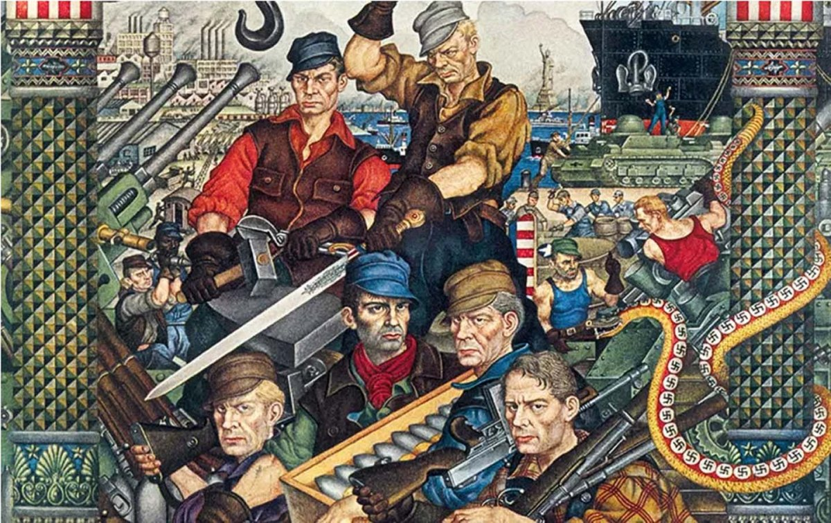 Sunday News -- Art and the Bible joined to defeat the Nazis by cartoonist Arthur Szyk at NY Historical Society