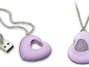 This little funky accessory is not only a pretty little necklace, it's also a USB!
