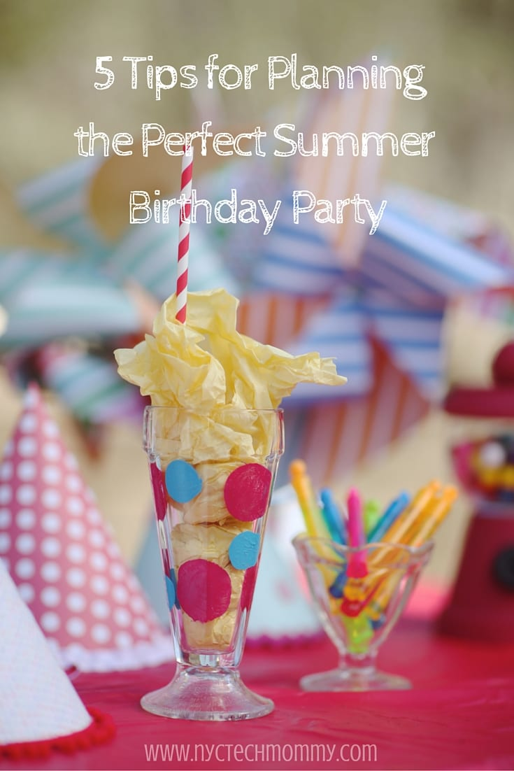 5 Tips to help you keep it simple and fun when planning the perfect Summer Birthday Party for your kid.
