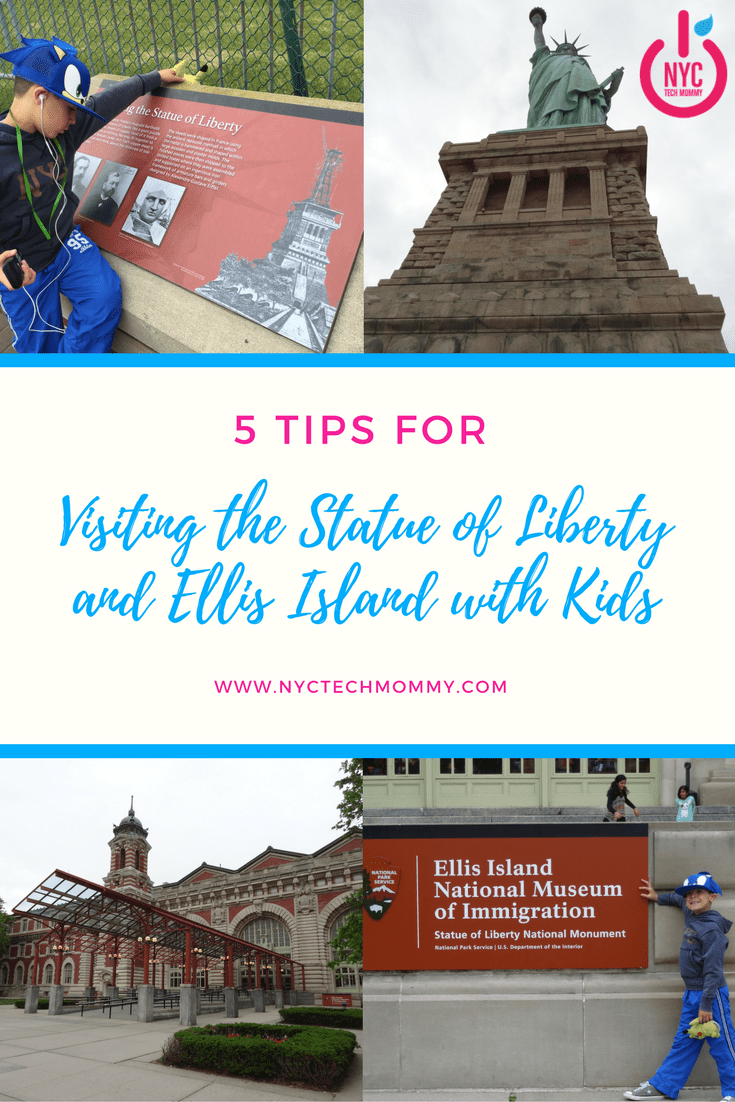 Here are 5 Great Tips for Visiting the Statue of Liberty and Ellis Island with Kids on your next NYC adventure #nyckids #visitnyc #nyc