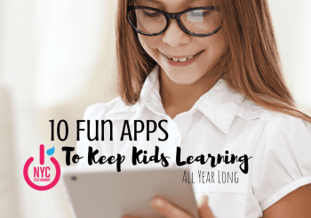 10 Fun Apps to Keep Kids Learning All Year Long - Here's a great list that will help kids get back to learning now that summer is done!