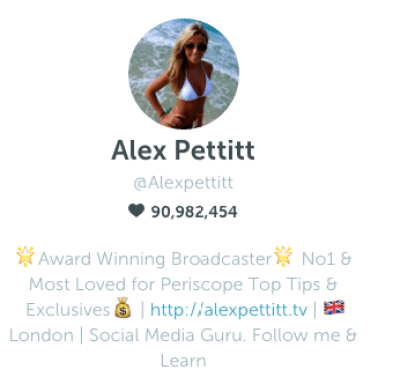 Alex Pettitt on Periscope