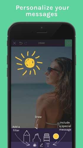 Trunq app - personalize your photo messages