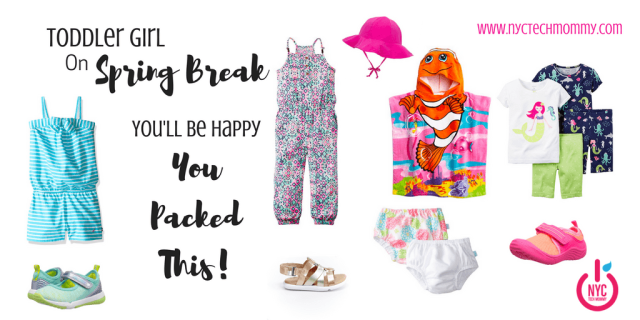 Are you heading out with Toddler Girl on Spring Break? Here are all the essentials you'll be glad you packed + where to find them!