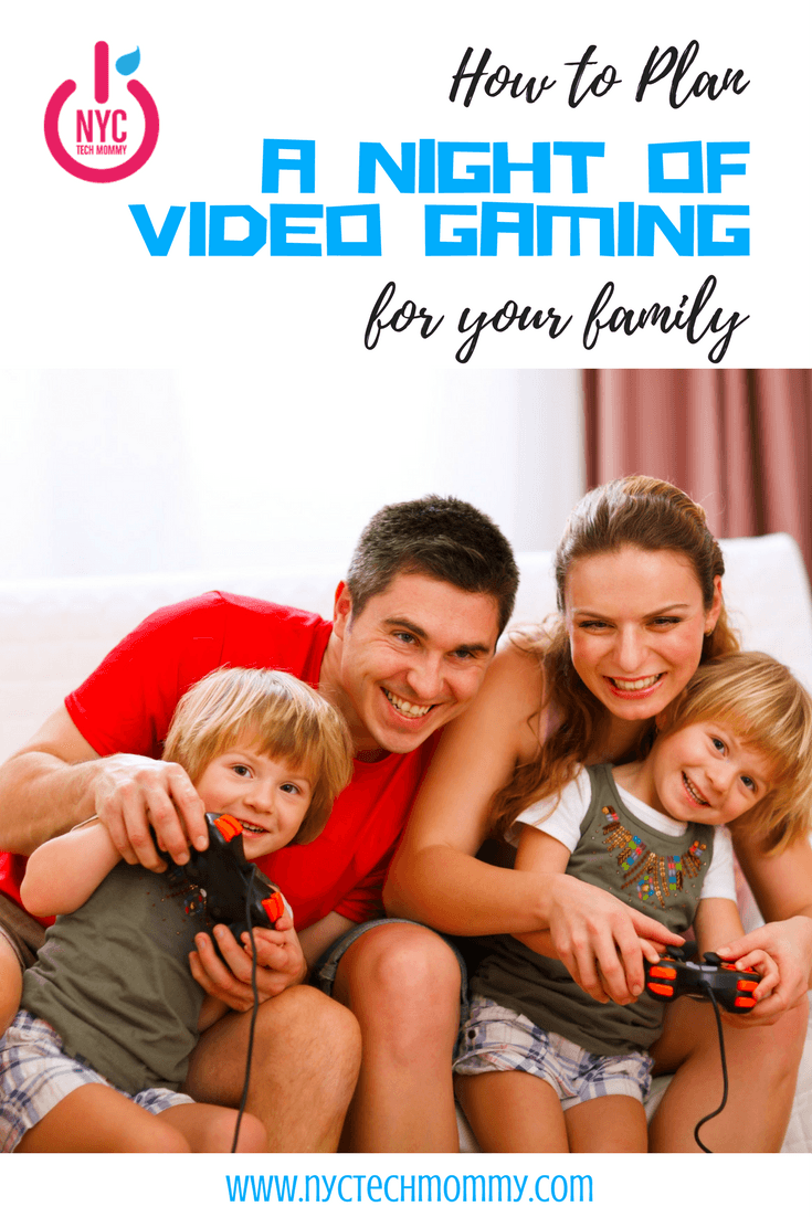 Here's how to plan a night of video gaming for your family! When we think of family game night, board games usually come to mind but a night of video gaming for your family can be just as enjoyable.
